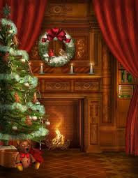 Chimney Christmas Photo Print Photography Backdrop