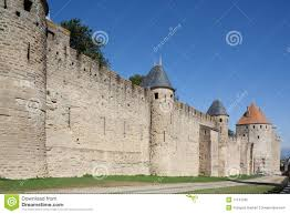 Carcassonne France Map by Medieval Rampart Of Carcassonne France Royalty Free Stock Images