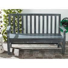 Wooden Patio Bench by Safavieh Indaka Ash Grey Acacia Patio Bench Pat6703a The Home Depot