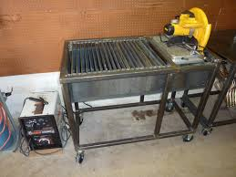 Welding Table Plans by Jim Aderhold U0027s Welding And Metalworking Hobby Chop Saw U0026 Cutting