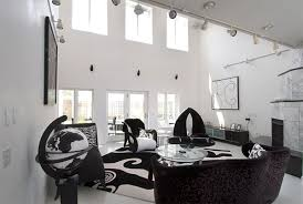 black and white living room decor home art interior