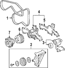toyota tacoma parts list solved 2 7l toyota tacoma 2006 serpentine belt diagram fixya
