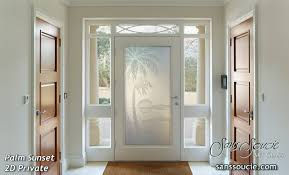 Frosted Glass Exterior Doors Tropical Designs Sans Soucie Glass