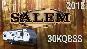 2018 forest river salem 30kqbss model