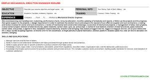 mechanical engineer cover letter u0026 resume