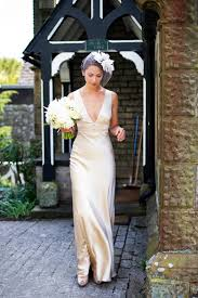 silk wedding dress a 1940s inspired silk wedding dress for a relaxed and