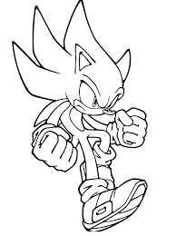 shadow from sonic coloring page coloring home