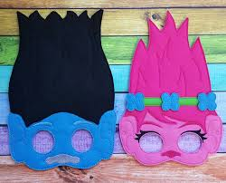 1st Halloween Birthday Party Ideas by Troll Felt Masks Trolls Halloween Costume Halloween