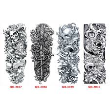 5pc waterproof temporary tattoo sleeve designs full arm tattoos