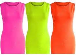 girls kids bright neon midi bodycon dress pink comic xmas age 7 8