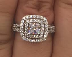 Wedding Rings At Walmart by Miabella 3 Carat T G W Cushion And Round Cut Cubic Zirconia