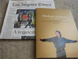 michael jackson funeral program michael jackson memorial funeral program staples center 80290508