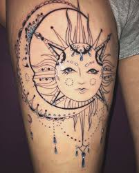 my addition on my thigh spiritual live by the sun feel