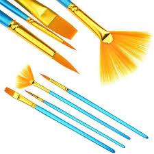 fan brush oil painting bluelans nylon hair artist paint fan shaped brush for watercolor