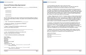 partnership agreement template for ms word word document templates