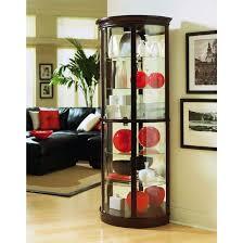 glass corner curio cabinet elegant corner curio cabinet ikea homes furniture ideas within