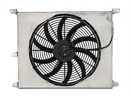electric radiator fans and shrouds sr performance mustang universal 16 in high performance slim