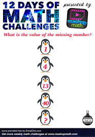are you ready for 12 days of holiday math challenges u2014 mashup math