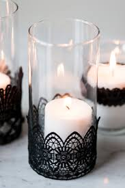halloween votive candle holders diy black lace candle holders the sweetest occasion