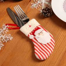 cute christmas stockings tableware silverware dinner cutlery