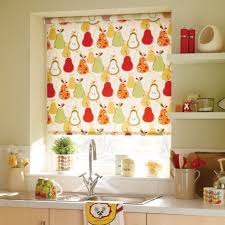 kitchen design kitchen window treatment with bamboo roller blind