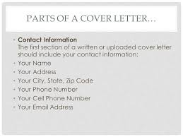 parts of cover letter writing a cover letter tips and ppt
