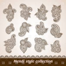 ethnic mehndi ornaments and design elements vector clipart image