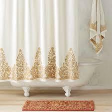 gold shower curtain nadir pearl white gold shower curtain