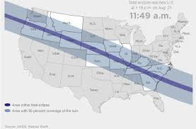 map of oregon to south carolina total solar eclipse crosses the u s wunc