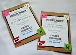 minecraft party invites this and that creations minecraft birthday party invitations are