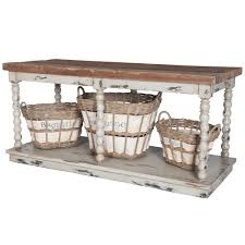 rustic country cottage kitchen island spindle legs