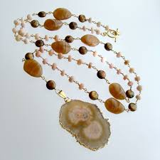 pink opal necklace images Peruvian pink opal pearls vintage agate blush pink brown jpg