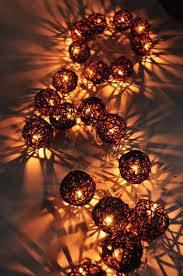rattan ball fairy lights 20 brown rattan ball string home indoor bedroom decor christmas