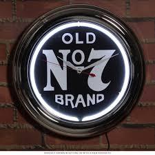 jack daniels old no 7 logo neon clock game room clocks