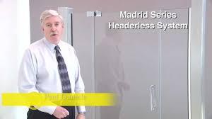 crl madrid series frameless shower door hardware youtube