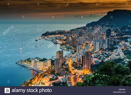 Monte Carle Monaco Monte Carlo 26 September 2016 Aerial Panoramic View The