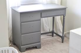 Gray And Gold An Old Desk Gets A Whole New Look Suburble