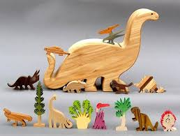 wooden animals figures a garden