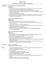 software developer resume tips mid level software engineer resume samples velvet jobs