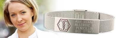 metal allergy jewelry allergy alert id bracelets from american id