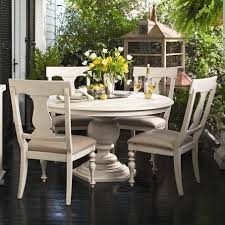 rustic round dining table large new lighting cozy and stylish