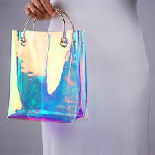 holographic bags summer hot fashion holographic transparent bag luxury