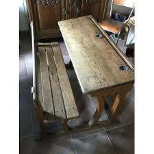 bureau ancien en bois bureau ancien en bois bureau bureau decolier ancien en bois 1 place