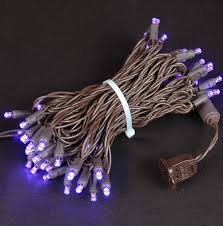 brown wire wide angle purple 50 bulb led lights sets