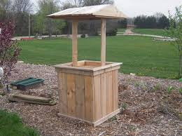 how to build wishing well planter landscape design