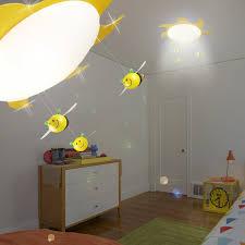 eclairage chambre enfant abeille luminaire de plafond ø530mm enfant jaune le soleil