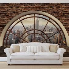 Wohnzimmer Einrichten Tapete Details Zu New York City Skyline Fenster Vlies Fototapete Tapete