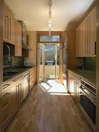 what is the best lighting for a galley kitchen form and function in a galley kitchen
