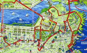 charleston trolley map maps update 21051488 boston map tourist boston printable