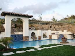 beautiful backyard water slides architecture nice
